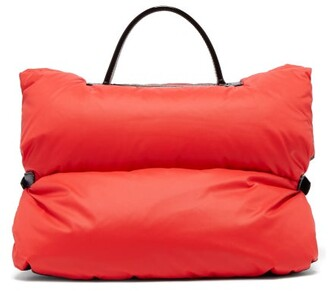 Valextra Reversible Mini Puffer Bag Jacket - Womens - Red Navy