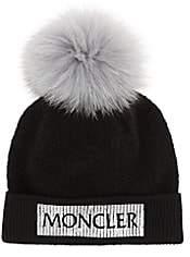 Moncler Kid's Logo Wool-Blend Beanie - Black