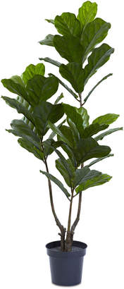 """Nearly Natural 65"""" Indoor/Outdoor Uv-Resistant Artificial Fiddle Leaf Tree"""