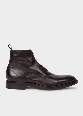Paul Smith Men's Dark Brown Calf Leather 'Jarman' Boots
