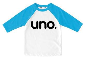 "Sprinkles And Jam ""Uno."" 1st Birthday Boy Shirt Raglan Birthday Outfit"