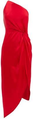 Michelle Mason Twist Knot One Shoulder Dress