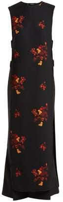 Ellery Judy Floral Print Cut Out Dress - Womens - Black Multi