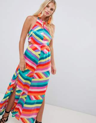 df800f47dfa Accessorize hot house stripe maxi beach dress multi