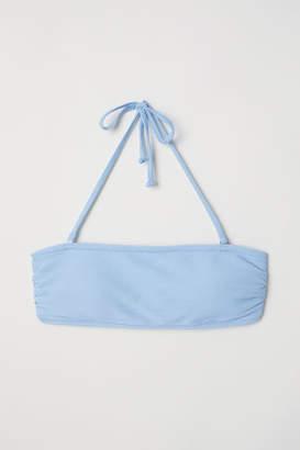 H&M Bandeau Bikini Top - Blue