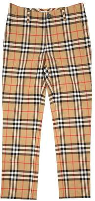 Burberry Check Cotton Chino Pants