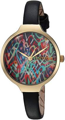 RumbaTime Women's 'Orchard Love' Quartz Metal and Leather Casual Watch