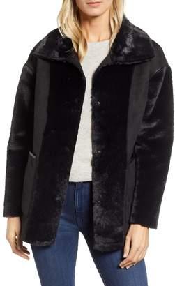 Bernardo Reversible Faux Shearling Coat