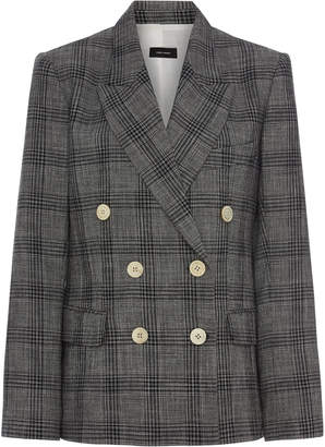 Isabel Marant Dallin Prince-Of-Wales Checked Cotton-Blend Blazer