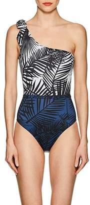 Fleur Du Mal Women's Palm-Tree-Print One-Shoulder One-Piece Swimsuit