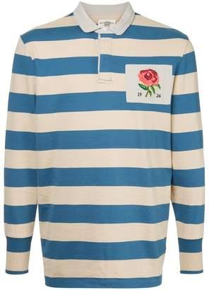 Kent & Curwen rose patch striped polo shirt