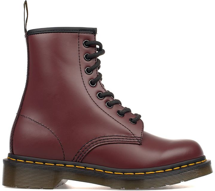 Dr. Martens Bordeaux Brushed Leather Low Boot