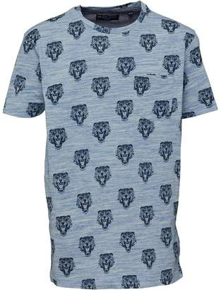 Brave Soul Junior Boys Bengal Tiger Print T-Shirt Blue/White