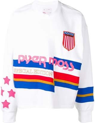 Pyer Moss Reebok By striped branded sweater