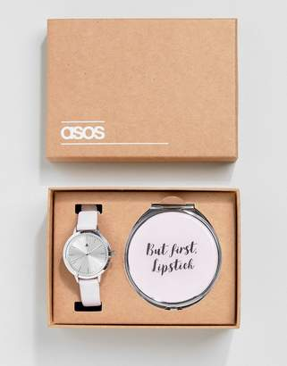 Asos Compact Beauty Mirror and Watch Gift Set