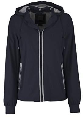 Geox Women's WOMAN JACKET Long Sleeve Jacket, Blau (DARK NAVY F4300), 6 (Manufacturer Size: 34)