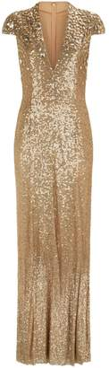 Jenny Packham Apollo Sequin Embellished Gown