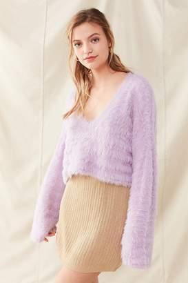 Urban Renewal Vintage Remade Gold Knit Sparkle Skirt