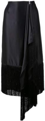 Marques Almeida Marques'almeida fringed asymmetric skirt
