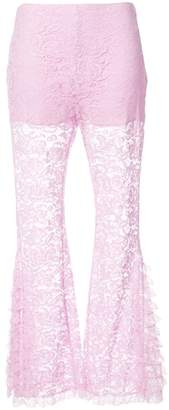 Givenchy flared lace trousers
