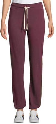 Sundry Basic Track-Stripe Drawstring Sweatpants