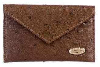 Armenta Ostrich Card Case