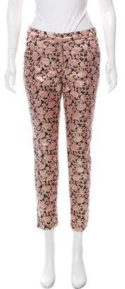 Dries Van Noten Mid-Rise Brocade Pants