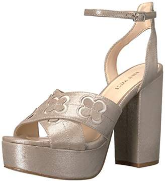 Nine West Women's Koolkat Metallic Platform Sandal
