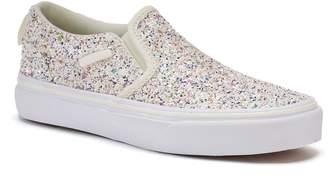 Vans Asher Slip-On Skate Shoes - Girls