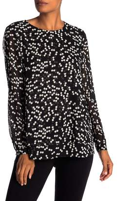 Anne Klein Layered Polka Dot Blouse