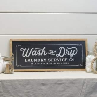 Laundry by Shelli Segal Gracie Oaks 'Modern Farmhouse Sign' Framed Textual Art on Wood