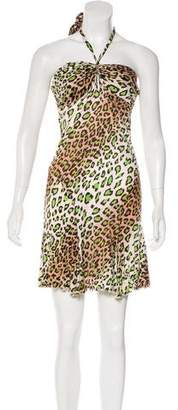 Blugirl Leopard Print Halter Dress