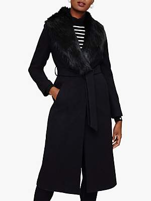 Phase Eight Fergie Faux Fur Collar Coat