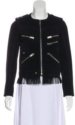The Kooples Fringe-Accented Suede Jacket