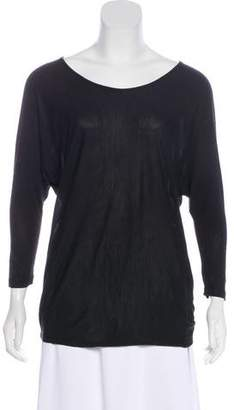 Vince Dolman Sleeve V-Neck Top