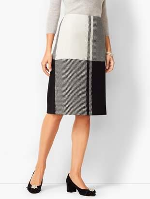 Talbots Colorblock Twill Pencil Skirt