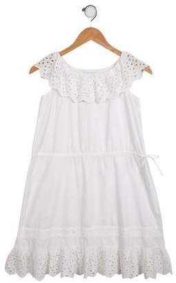 Marie Chantal Girls' Ruffled Eyelet Dress