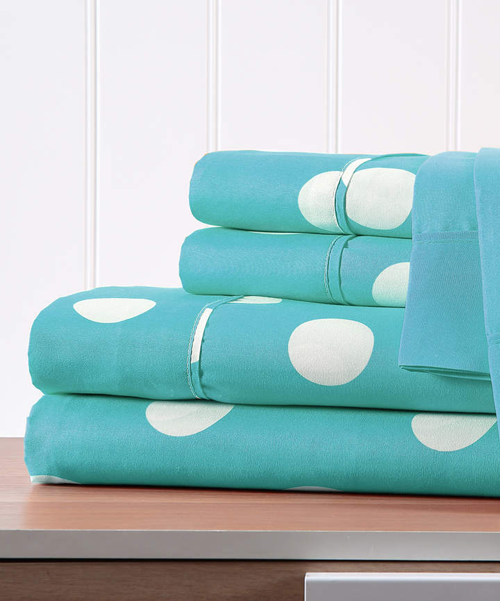 Turquoise Polka Dot Six-Piece Sheet Set