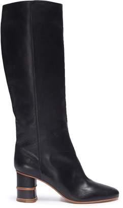 Gabriela Hearst 'Amelia' wooden stacked heel knee high leather boots
