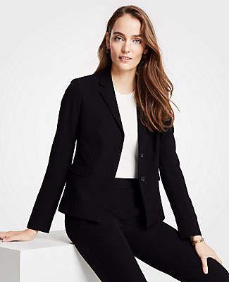 Ann Taylor The Tall Tuxedo Blazer in Doubleweave