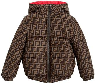 Fendi REVERSIBLE NYLON DOWN BOMBER JACKET