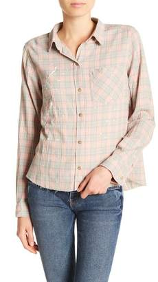 Current/Elliott The Ivie Plaid Button Down Shirt