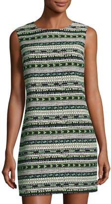Cynthia Steffe Courtney Sleeveless Geometric Jacquard Shift Dress