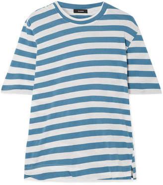 Bassike Striped Organic Cotton-jersey T-shirt - Blue