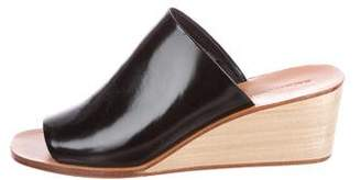 Rachel Comey Patent Leather Wedge Mules