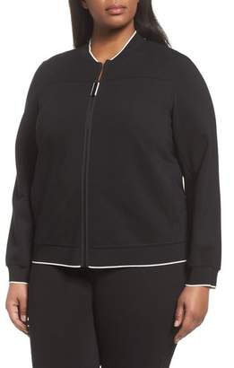 Lafayette 148 New York Alison Zip Front Jacket