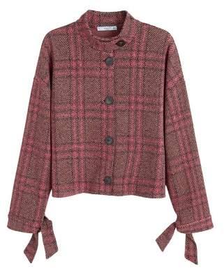 MANGO Check tweed jacket