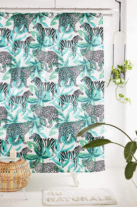 Deny Designs OJardin For Deny Leopard Zebra Shower Curtain