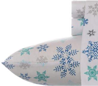 Eddie Bauer Tossed Snowflake Cotton Flannel Sheet Set