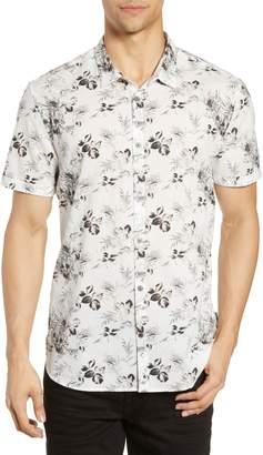 John Varvatos Jasper Floral Cotton & Linen Sport Shirt
